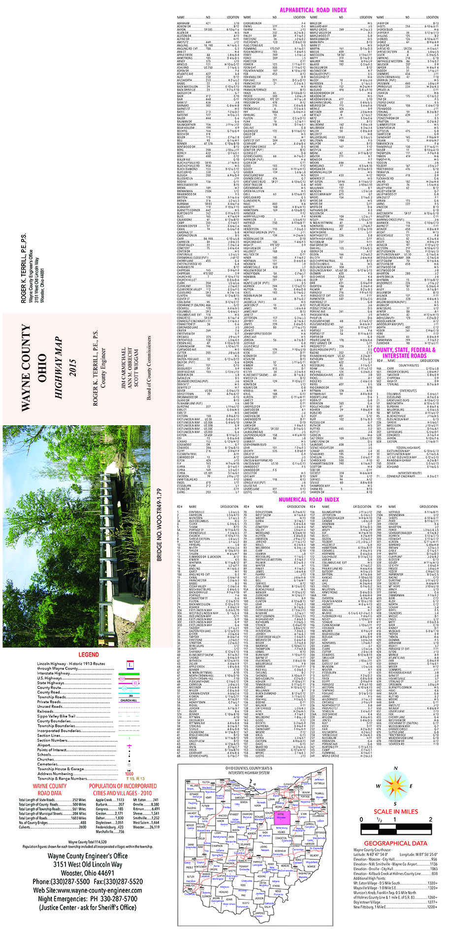 2015 Wayne County Hwy Map - Text Only
